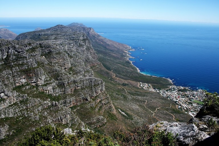 Kapstadt Highlights Tafelberg Blick Süden