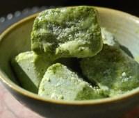 pesto fest! (garlicky green ice cubes)