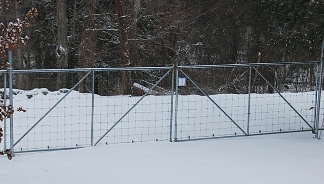just saying no to deer, with fencing - A Way To Garden