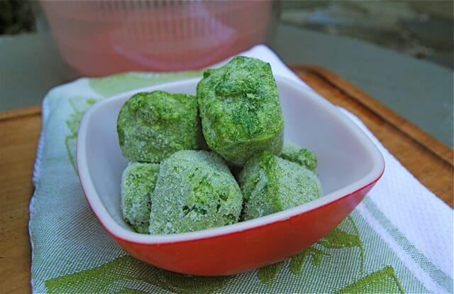 parsley pesto cubes 2