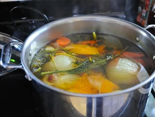 stock on stove