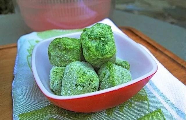 parsley pesto cubes 3