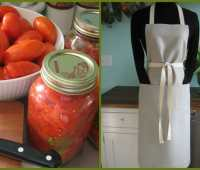 giveaway: canning tomatoes, in a great apron
