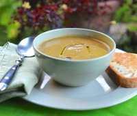 sweet potato-greens-sage soup, adapted with love