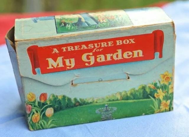 vintage garden treasure box