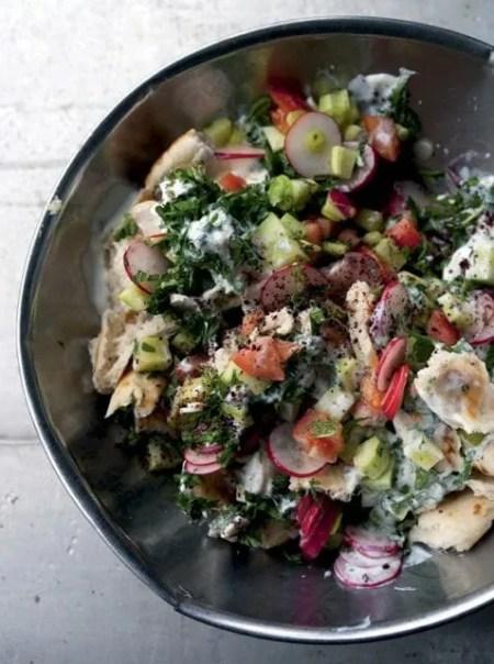 Fattoush salad from JERUSALEM cookbook