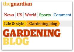 The Guardian newspaper garden blog logo