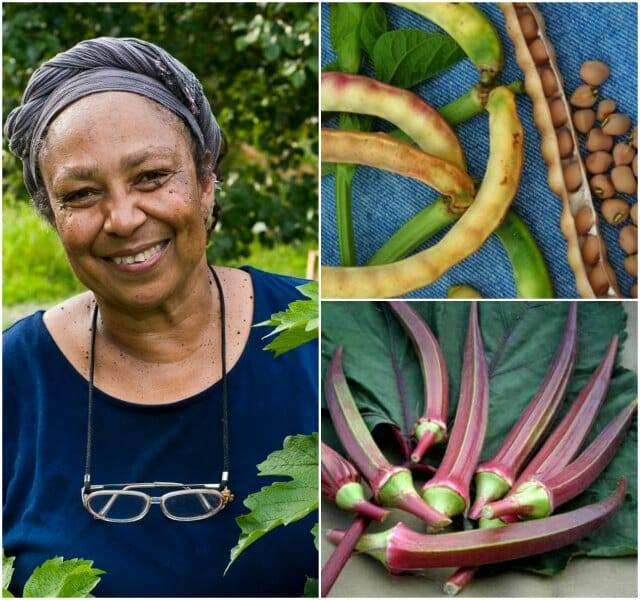 Ira Wallace, crowder peas and red okra