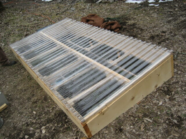Plan for $100 coldframe at Hudson Valley Seed Library