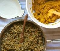lentils! (including in sweet potato shepherd's pie)