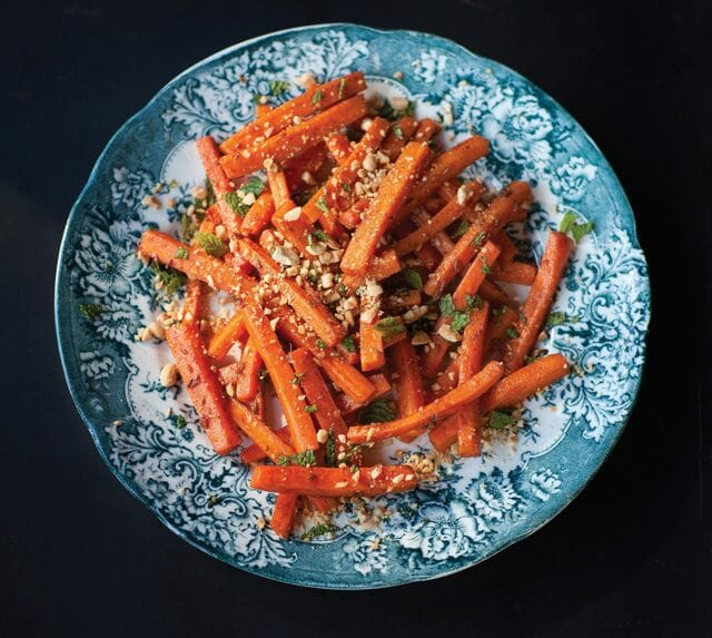 Glazed Carrot Salad--Credit Paige Green.