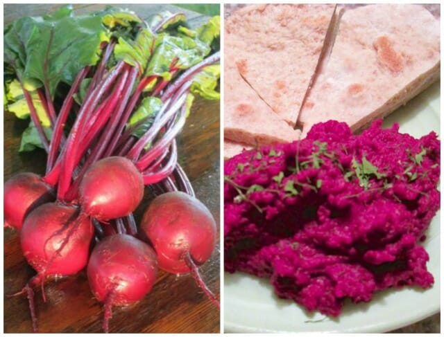 sweet dakota bliss and beet hummus