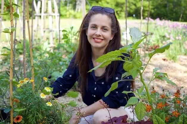 Niki in garden