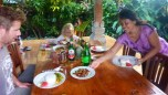 We enjoyed Made's meals at home, outside, Bali style.