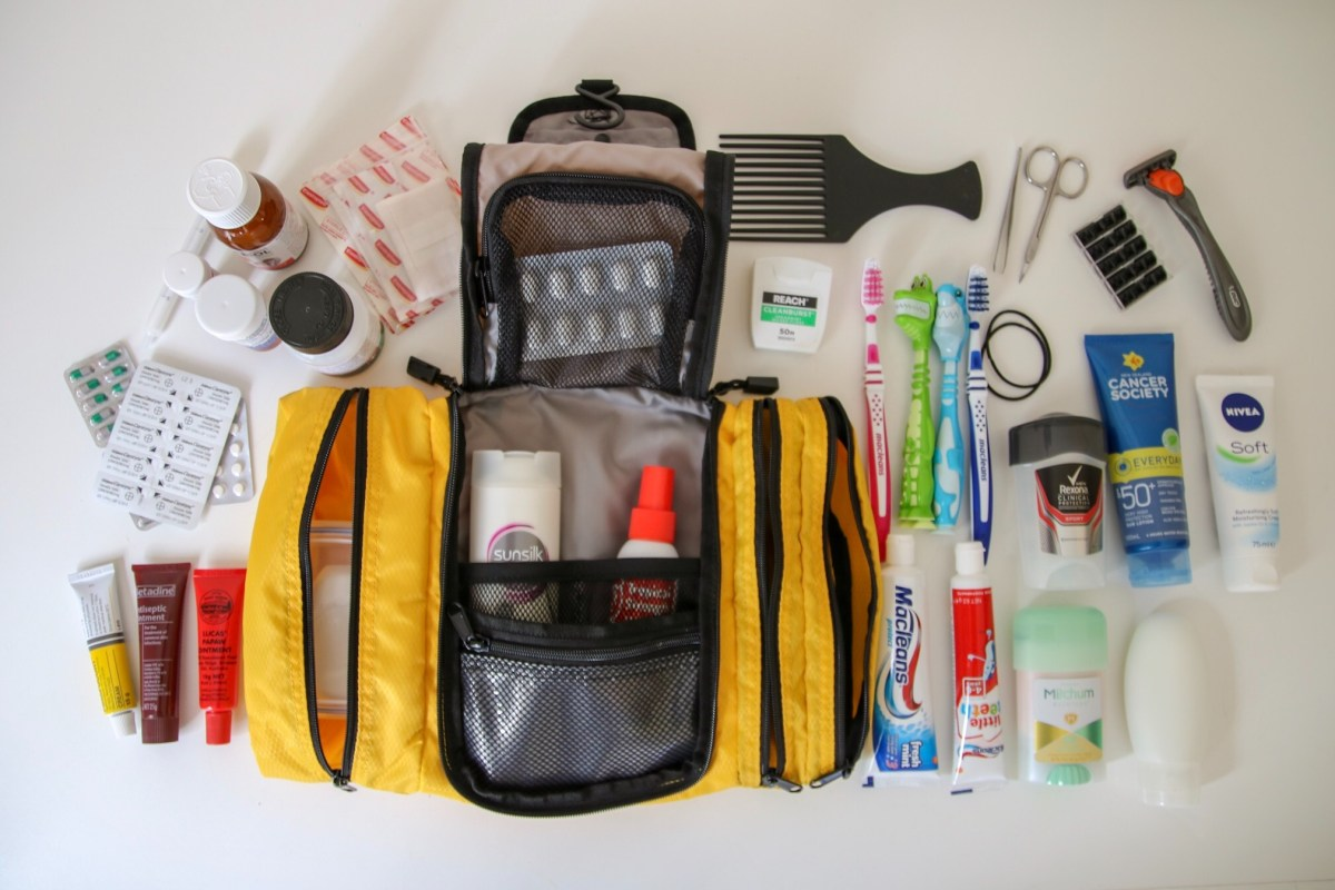 Toiletry bag - packing for longterm travel.