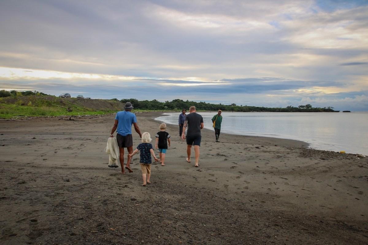 Fishing in Fiji with kids.