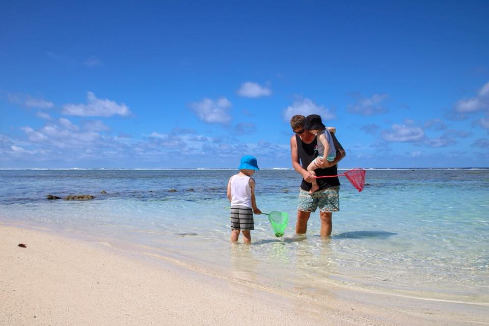 Christmas in Rarotonga with kids.