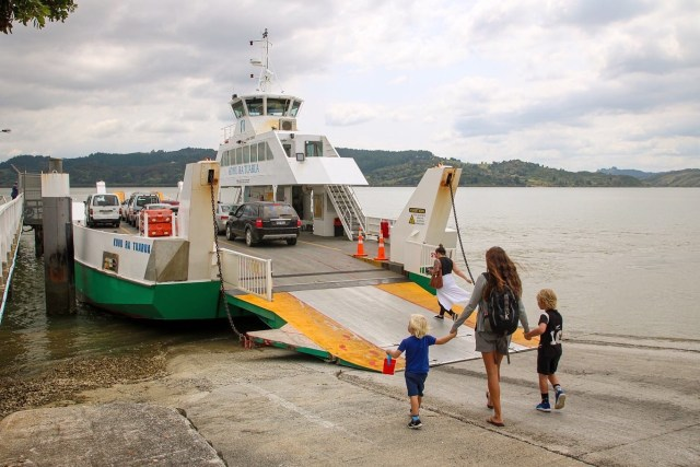 Take the car ferry in Rawene as part of your Northland road trip.