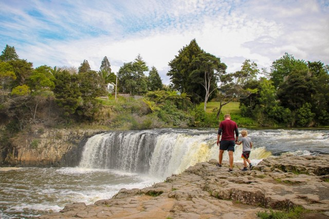 Northland road trip - stopping to check out Haruru Falls.