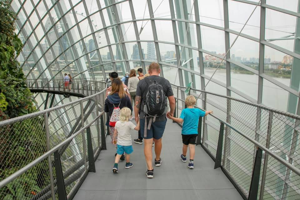 Exploring Singapore with the kids.