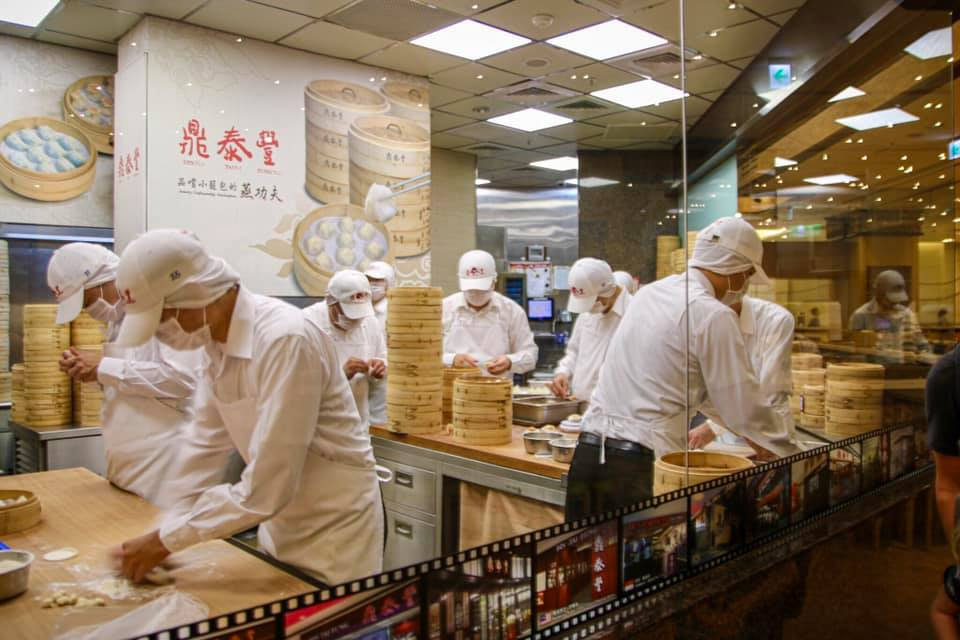 Chefs at work at Din Tai Fung in Taiwan. Taiwanese food you have to try!