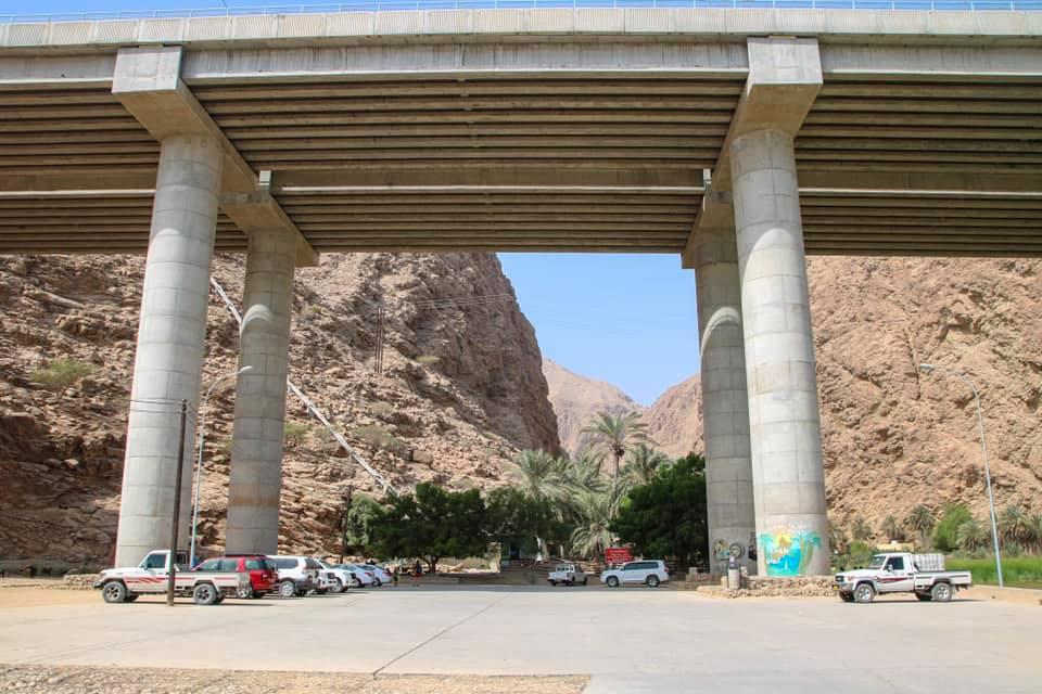 Parking lot at Wadi Al Shab, Oman.