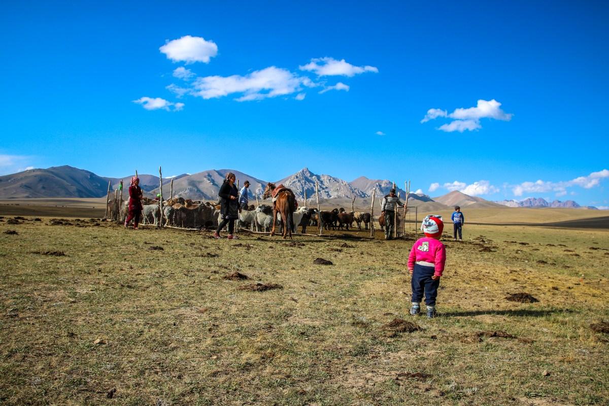 Herder child at Song Kol Lake.