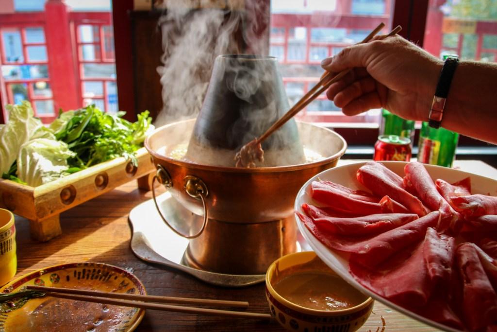 Beijing hot pot, the best food in Beijing.
