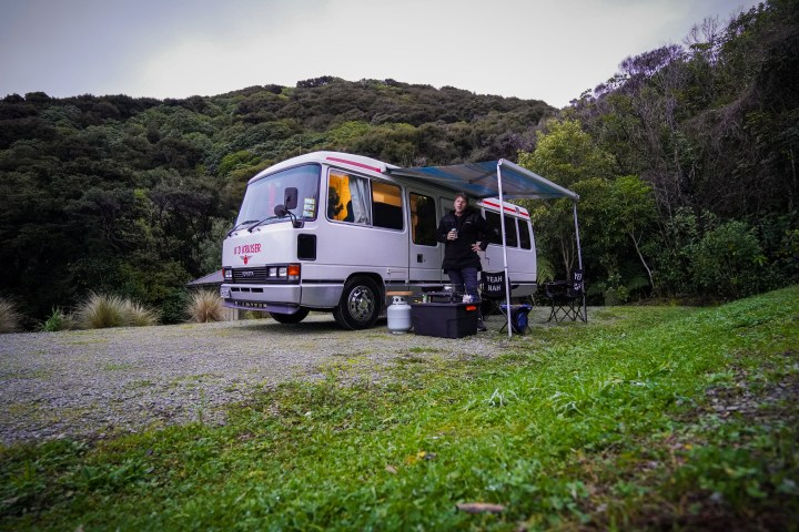 One of the beautiful South Island camping spots we found. Whites Bay, Blenheim.