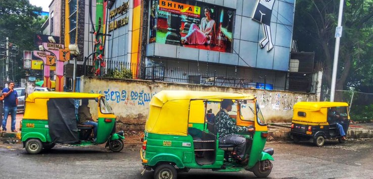 Tuk tuks to get around while living in India