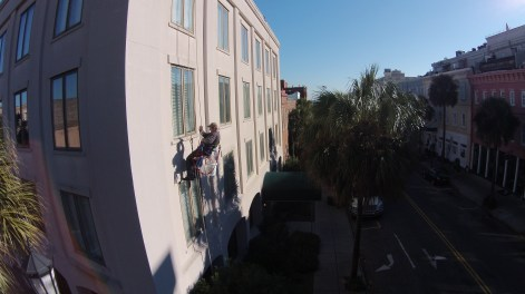 High Rise Window Washing Downtown Charleston 3