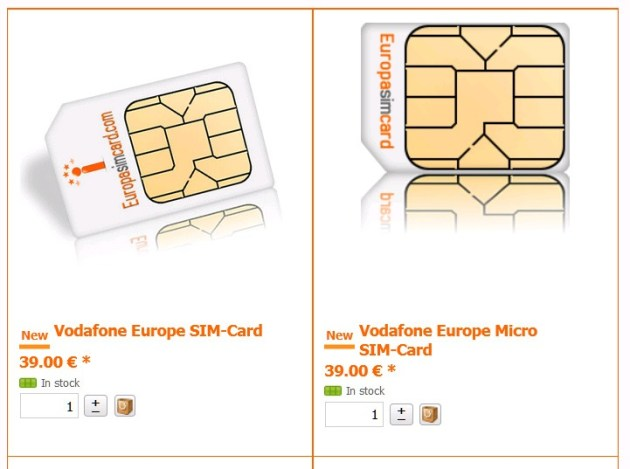 мобильный интернет в Европе