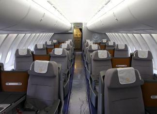 Салон бизнес класса B-747-838 а/к Lufthansa