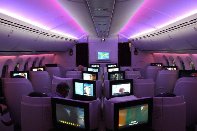 Бизнес класс Boeing 787 Qatar Airways