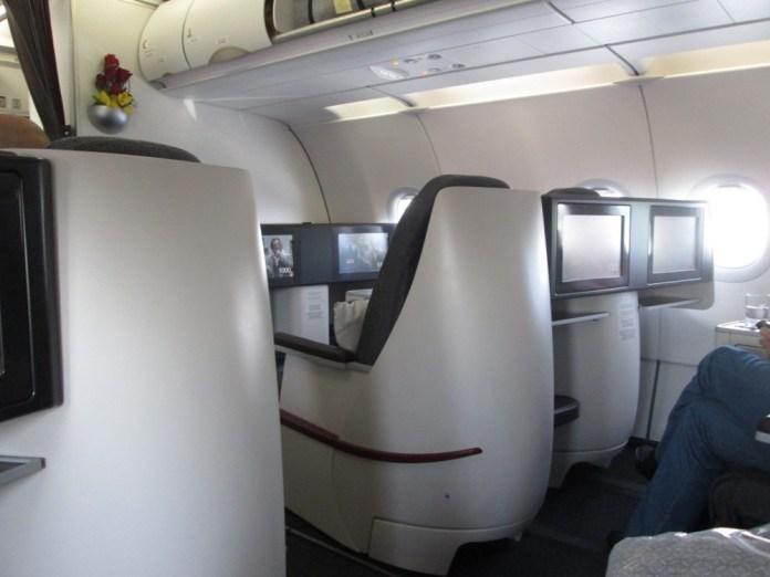 Бизнес класс Qatar Airways в А320
