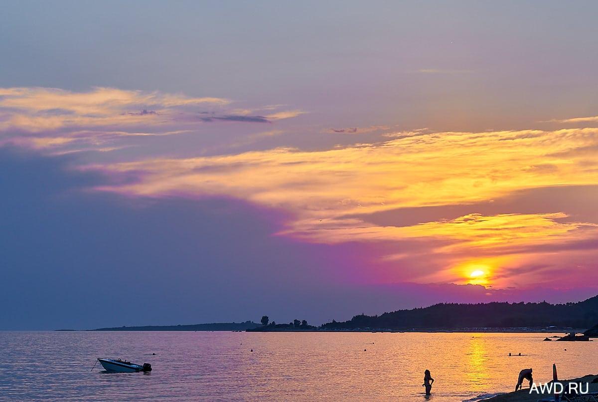 Пляжи на юге Ситонии Халкидики