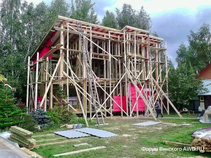 Каркасный дом на даче отзывы