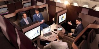 Новый бизнес-класс QSuite у Qatar Airways