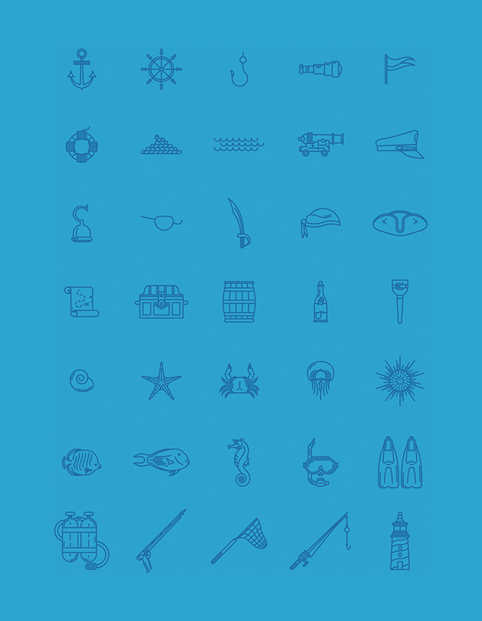 280 бесплатных тематических иконок