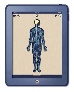 Приложение Биотуд — бумажный стиль в мобильном интерфейсе