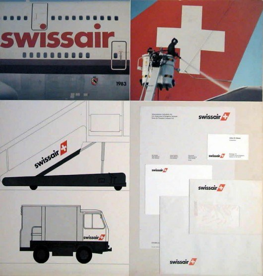 Логотип Swissair 1980-2000-е