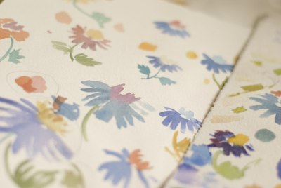 The Lost World watercolor patterns