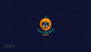 Halloween Logotypes — серия тематических логотипов разных дизайнеров
