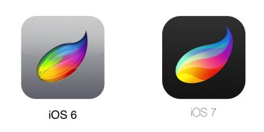 Как меняются иконки приложений после выхода iOS 7