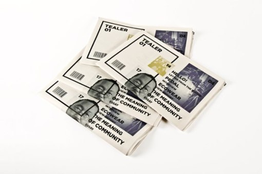 Дизайн газеты Taler (фирменная газета чайного бренда)