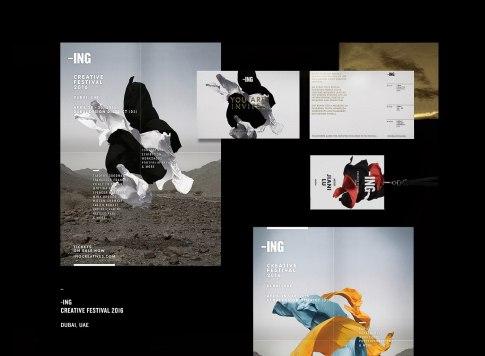 Фирменный стиль творческого фестиваля -ING в Дубае