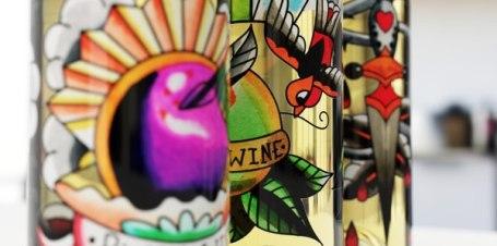 Концепт татуированной упаковки вина «Двадцать один»