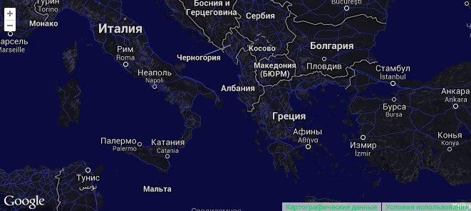 Snazzy Maps, стилизованные гугло-карты