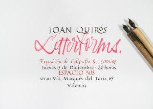 Каллиграфия и леттеринг Хуана Куироса (Joan Quirós) из Валенсии
