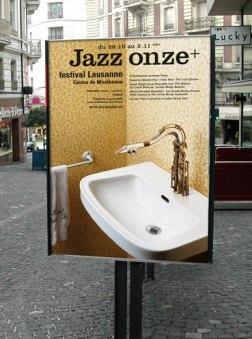 Серия плакатов для джазового фестиваля Jazz Onze+ в Лозанне